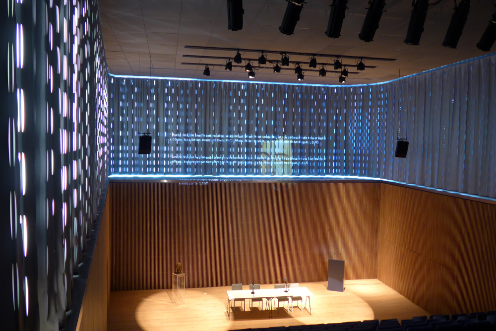 Attractive Scope Of Work: Auditorium Curtain And Advisory On Interior Design. Date:  2012 2017. Oficial Opening: January 13th 2017